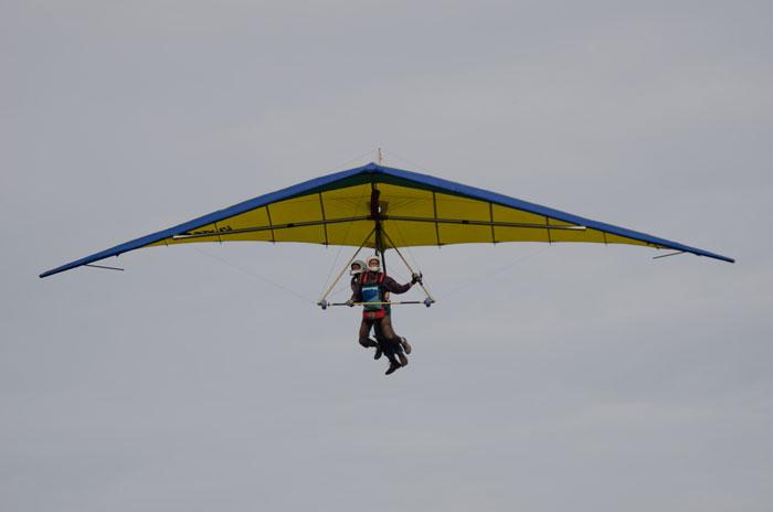 Duo-vlucht deltavliegen